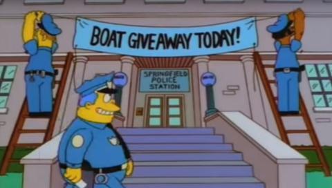 Los Simpson - Lancha motora gratis