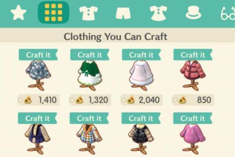 Animal Crossing Pocket Camp ropa
