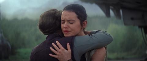 Leia y Rey en Star Wars: El despertar de la Fuerza