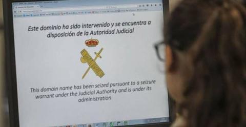 Guardia Civil bloque webs piratas