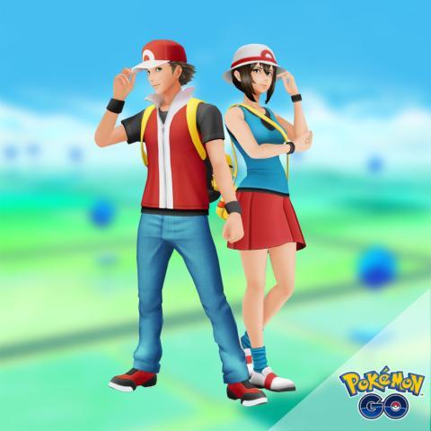 Pokémon GO - Entrenador Rojo Fuego y Verde Hoja