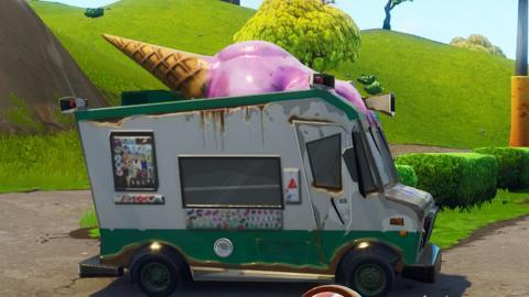 desafío de la localización de camiones de helados en Fornite Battle Royale, encontrar todos los camiones de helados en Fornite Battle Royale, mapa con todos los camiones de helados de Fornite Battle Royale, localización exacta de todos los camiones de helados en Fornite Battle Royale