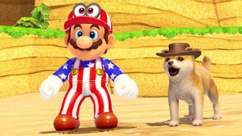 Super Mario Odyssey perro
