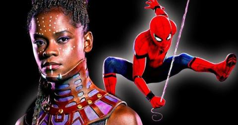 Shuri y Spiderman