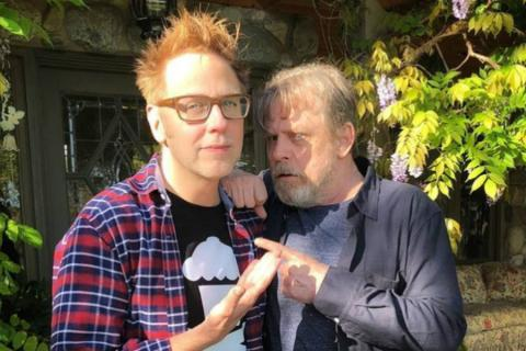 James Gunn y Mark Hamill