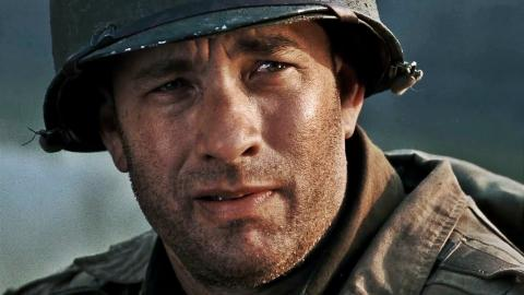 "Tom Hanks en ""Salvar al soldado Ryan"""
