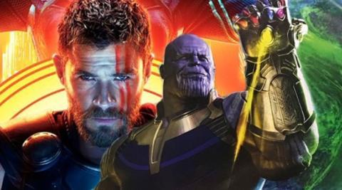Vengadores Infinity War Thor y Thanos