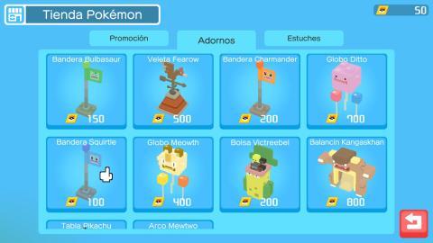Decoraciones Pokémon Quest