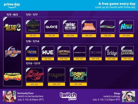 Amazon Prime - Juegos gratis de julio