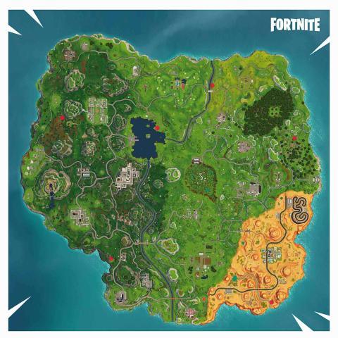 Fortnite Mapa Palomas de Arcilla