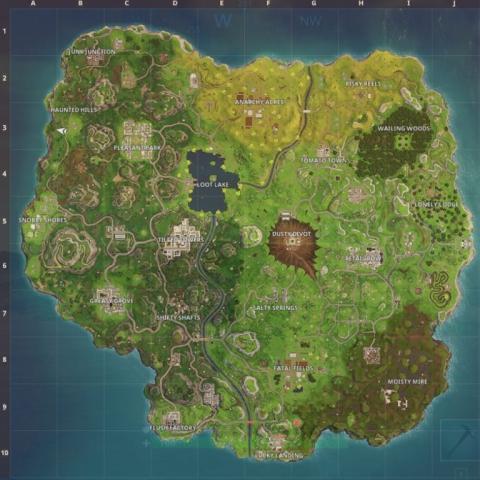 Fortnite Battle Royale Cambios Del Mapa Hasta La Temporada 5