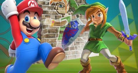 Mario y Link en Fortnite Battle Royale