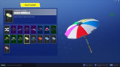 Sombrilla playa Fortnite