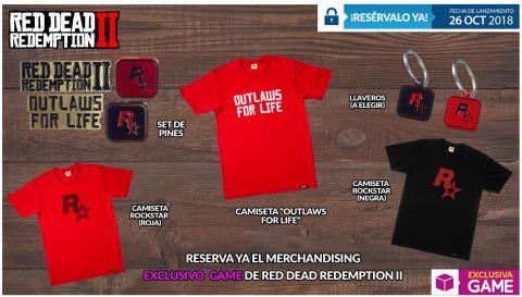 Merchandising de Red Dead Redemption 2 exclusivo de GAME