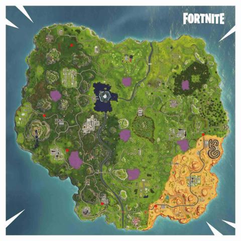 Fortnite circulos llameantes temporada 6 mapa actualizado