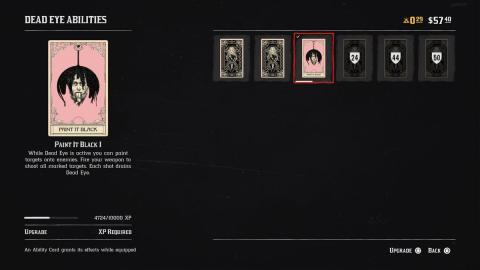 Cartas habilidad Red Dead Online