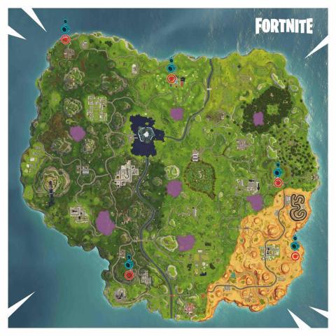Fortnite pruebas contrarreloj con vehículo en Fortnite mapa