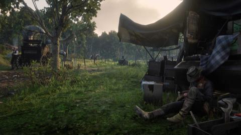 Campamento en Red Dead Online