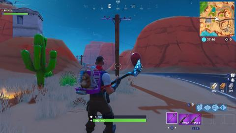 destruye postes de madera fortnite