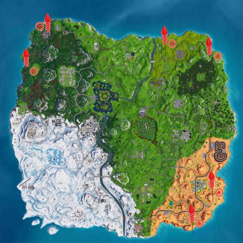 Lanza Fuegos Artificiales Fortnite mapa
