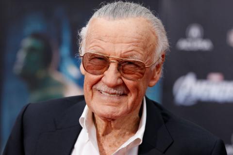 Stan Lee, durante la premiere de Los Vengadores, en 2012