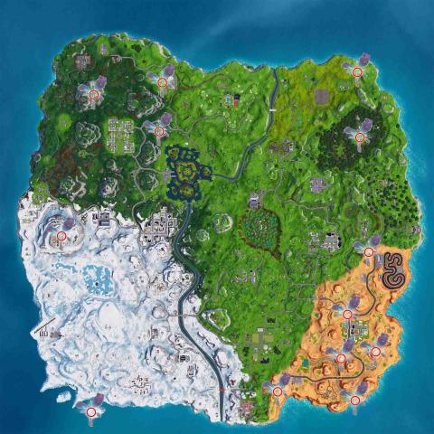 Fortnite grietas mapa