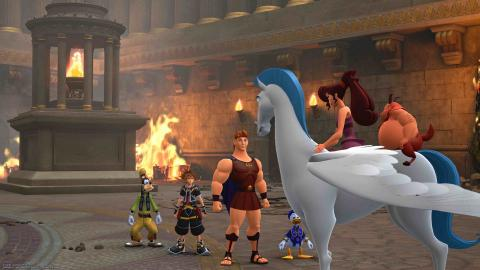 Coliseo Kingdom Hearts III coleccionables portafortuna y tesoros