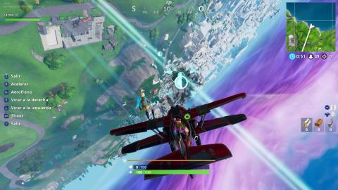 Complete time trials with a plane AlaTormenta X-4 in Fortnite