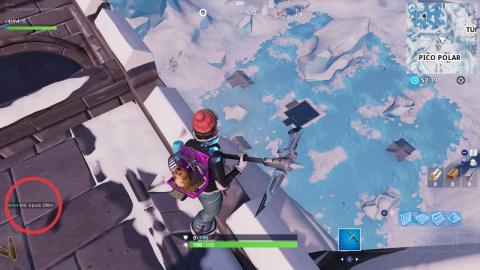 lanza un disco de hielo fortnite 150 m