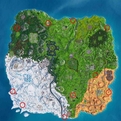 donde estan los 10 globos dorados fortnite mapa
