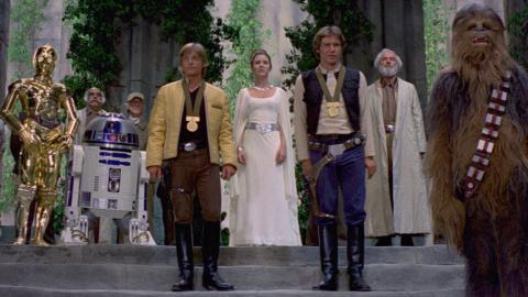 Star Wars: Una nueva esperanza. Ceremonia de entrega de medallas
