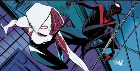la secuela de Spider-man: Un nuevo universo y Spider-Gwen