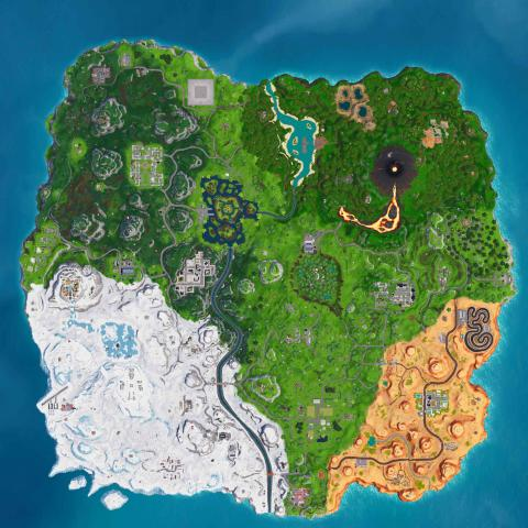 Fortnite temporada 8 mapa