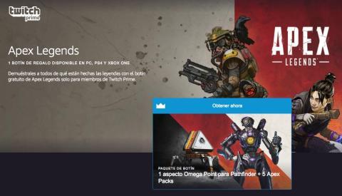 cómo conseguir el botín de Apex Legends en Twitch Prime