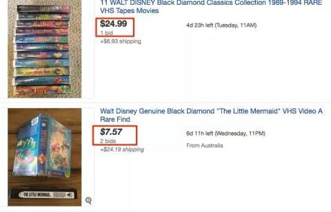 VHS de Disney por más de 1.000 dólares