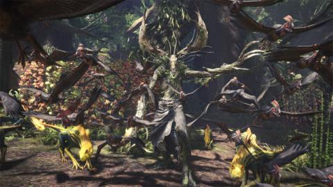 Geralt en Monster Hunter World