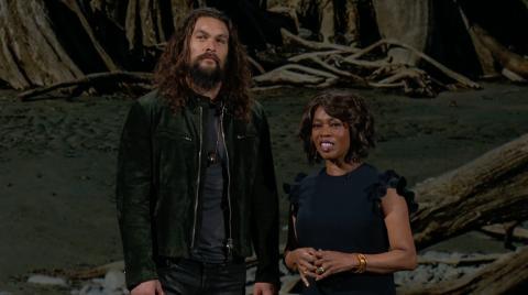 Presentación Apple TV+ - Jason Momoa y Oprah Winfrey