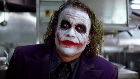 Heath Ledger como el Joker en El Caballero Oscuro