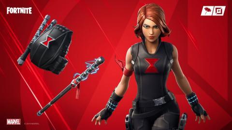 Skin de la Viuda Negra en Fortnite Vengadores Endgame