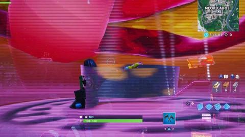 Baila dentro de cabezas holográficas Fortnite