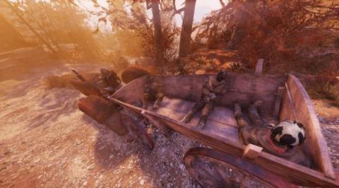 Carro de Skyrim en Fallout 76
