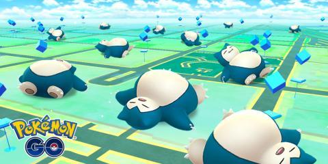 Snorlax dormilón en Pokémon GO