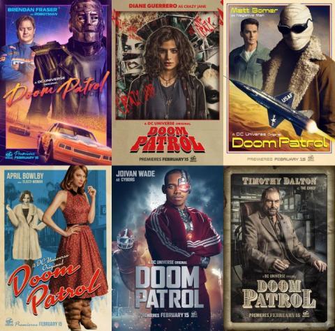 Doom Patrol - Posters de los personajes