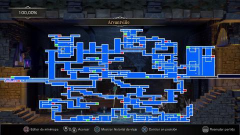 Bloodstained mapa