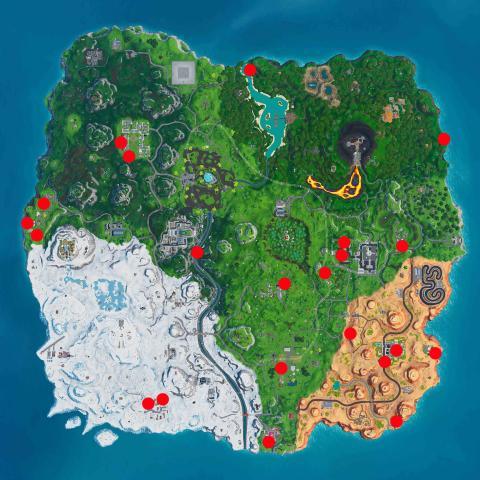 Mapa parrillas en Fortnite