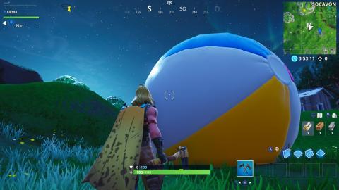 Bota una pelota gitante de playa Fortnite - localizaciones
