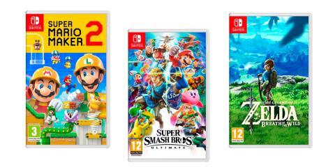 3x2 en una selección de juegos de Nintendo Switch