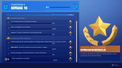 Desafíos Semana 10 temporada 9 Fortnite