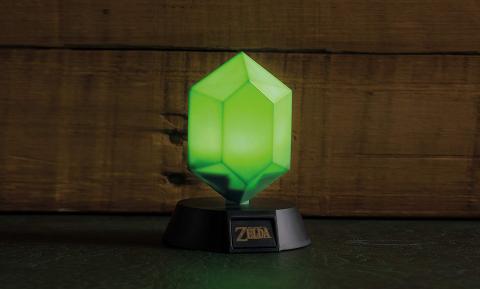 Lámpara de Zelda con forma de rupia
