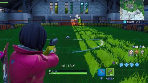 Marcar campo de fútbol cubierto Fortnite